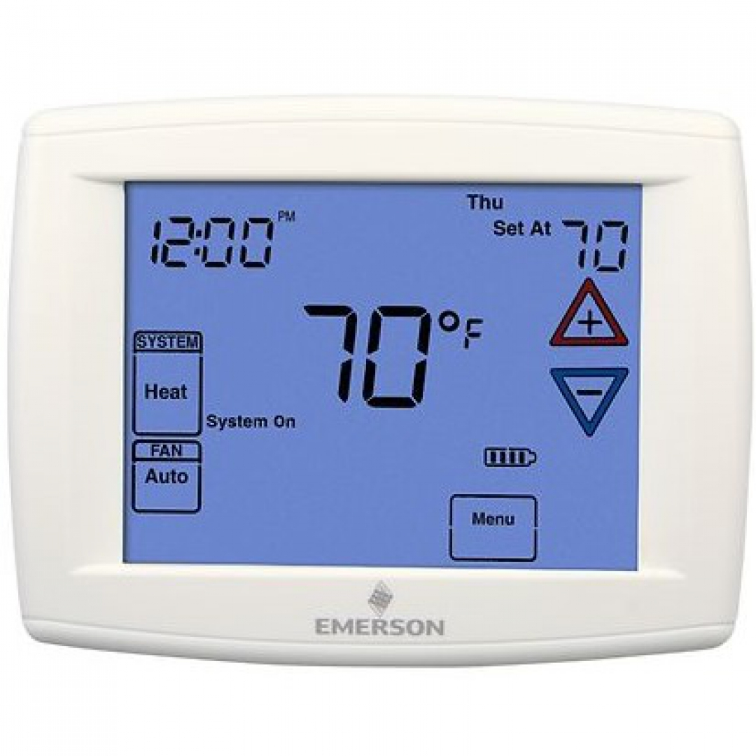 Blue 12 U0026quot  Series Programmable Touchscreen Thermostat With Humidity Control
